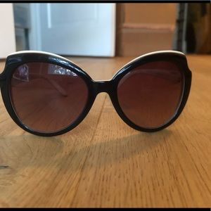 MARC BY MARC JACOBS black/ milk 55mm sunglasses